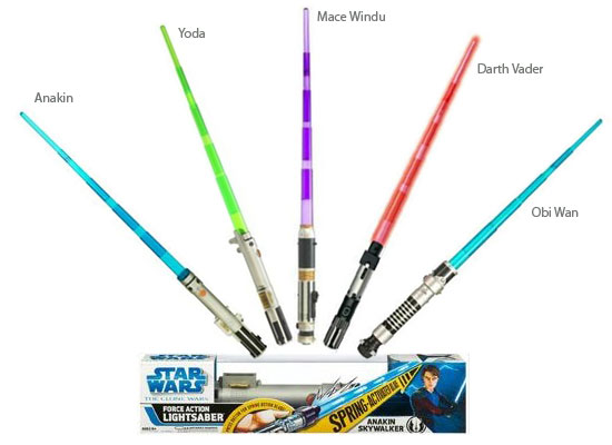 Star Wars Lightsabers Toys : Star wars clone what kids really want